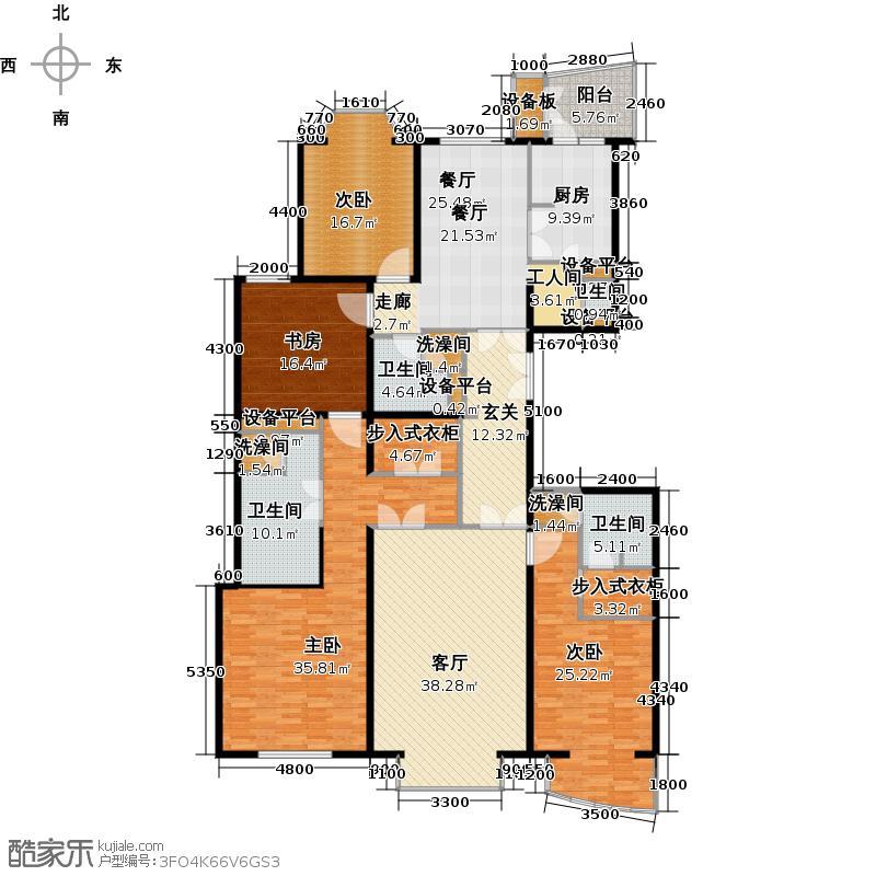 公园1872197.10㎡6号楼C1户型4室2厅4卫1厨