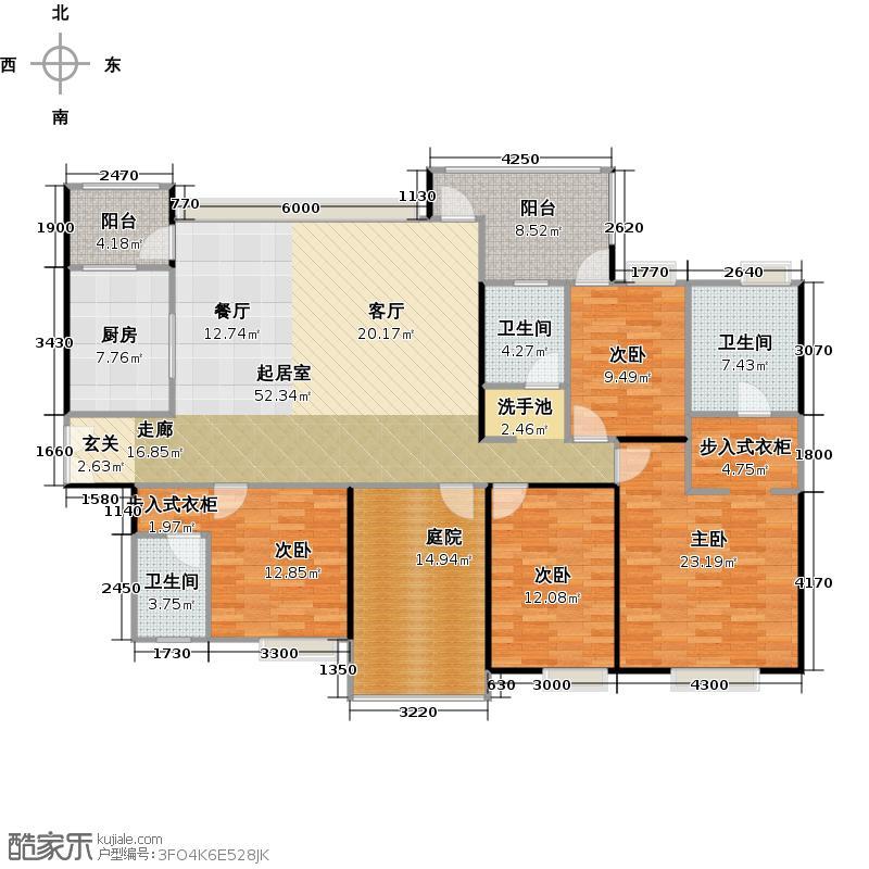 中信森林湖兰溪谷8.00㎡8栋一单元02户型4室3卫1厨
