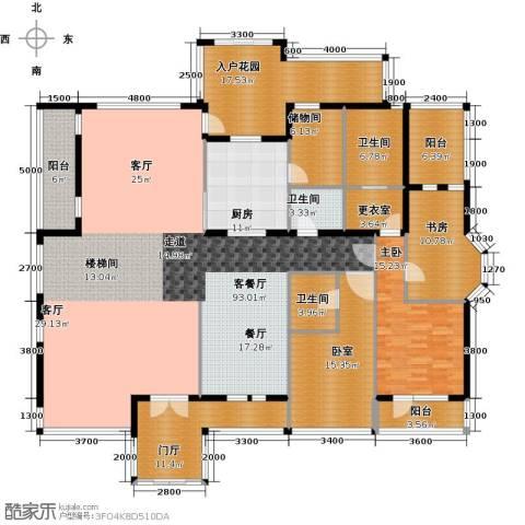 将府庄园2室1厅3卫1厨297.00㎡户型图