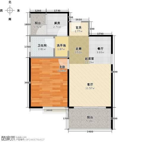 东海阳光1室0厅1卫1厨61.00㎡户型图