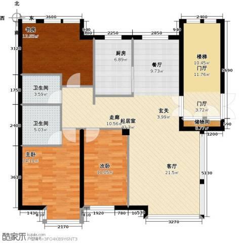 万象新天3室0厅2卫1厨151.00㎡户型图