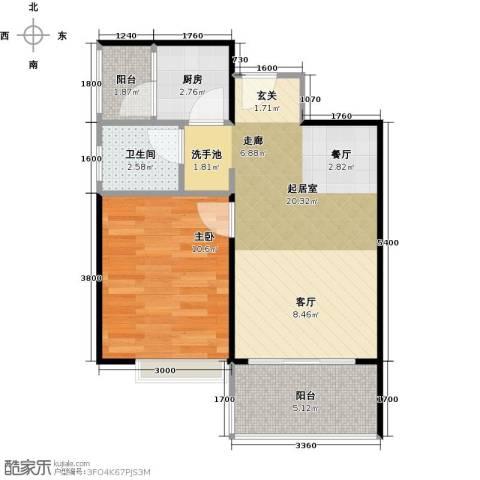 东海阳光1室0厅1卫1厨59.00㎡户型图
