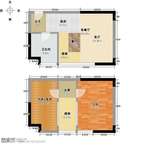 御东雅苑1室1厅1卫0厨89.00㎡户型图