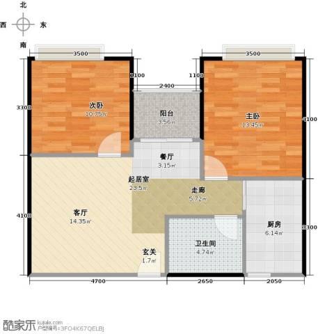 东海阳光2室0厅1卫1厨84.00㎡户型图