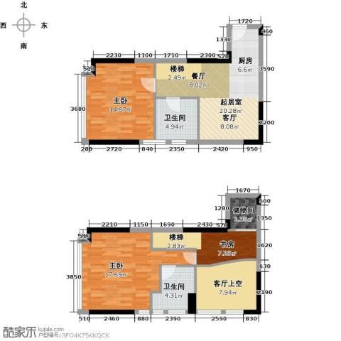 御东雅苑3室0厅2卫0厨113.00㎡户型图