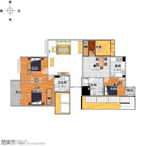 康馨苑4室1厅2卫1厨126.00㎡户型图