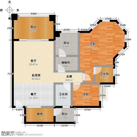 金海岸花园二期2室0厅2卫1厨132.00㎡户型图