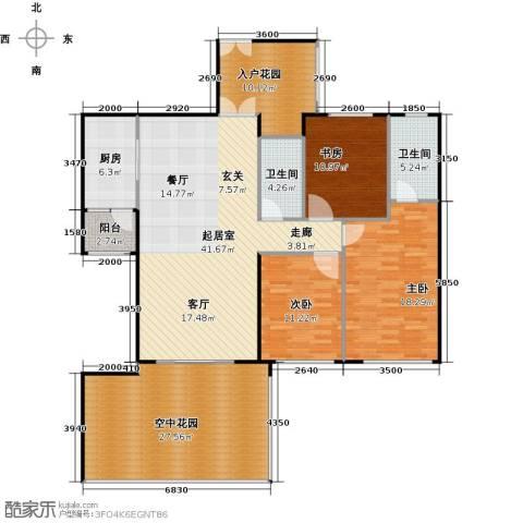 龙城国际3室0厅2卫1厨184.00㎡户型图