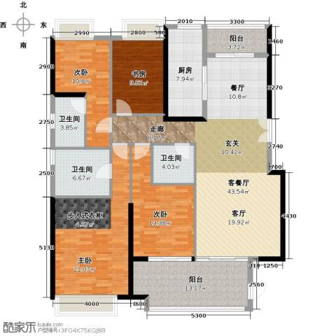 御东雅苑4室1厅3卫1厨193.00㎡户型图