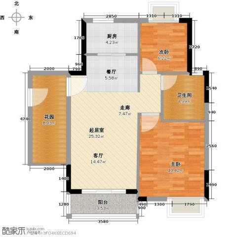 嘉利豪庭2室0厅1卫1厨95.00㎡户型图