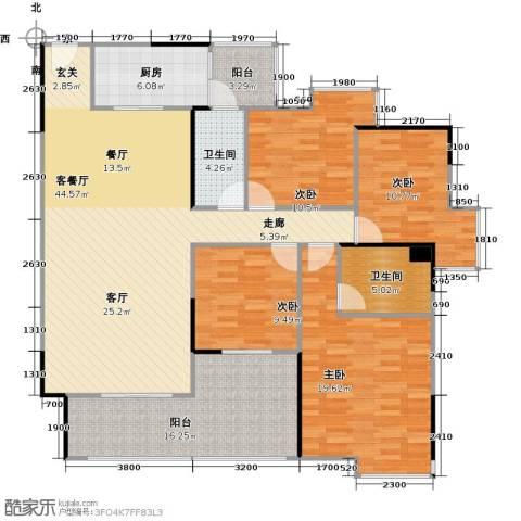 中海金沙苑4室1厅2卫1厨139.77㎡户型图