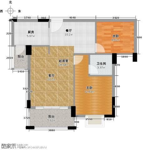富盈山水华府别墅2室0厅1卫1厨88.00㎡户型图