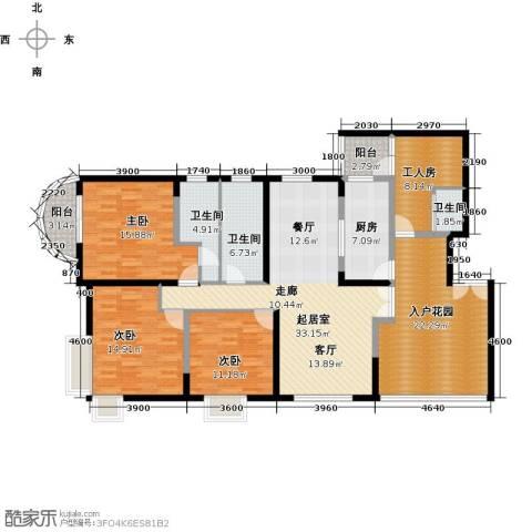 陶然豪园3室0厅3卫1厨189.00㎡户型图