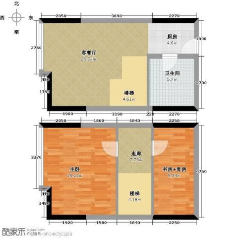 御东雅苑1室1厅1卫0厨91.00㎡户型图