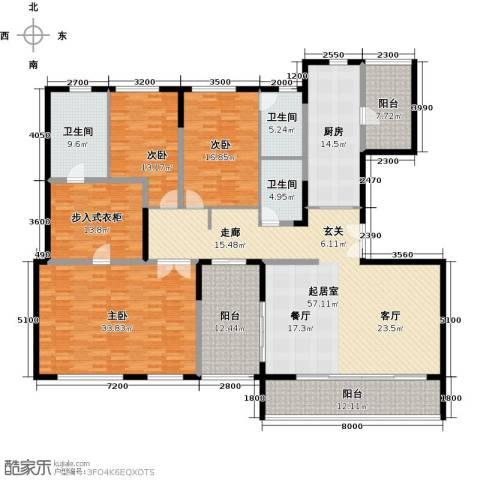 万科金色梦想3室0厅3卫1厨281.00㎡户型图