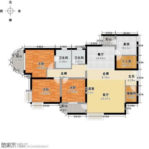 陶然豪园3室0厅2卫1厨196.00㎡户型图