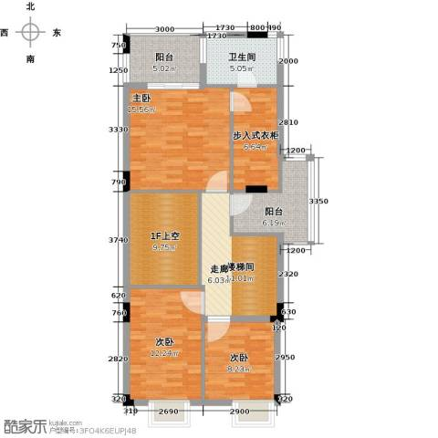 世纪城国际公馆香榭里3室0厅1卫0厨113.00㎡户型图