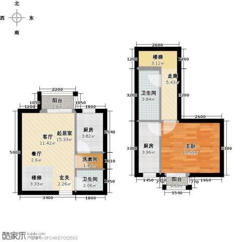 万科金色梦想1室0厅2卫2厨450.00㎡户型图