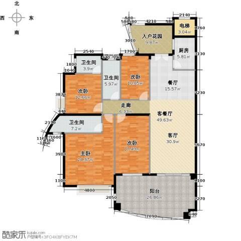 海琴湾4室1厅3卫1厨177.60㎡户型图