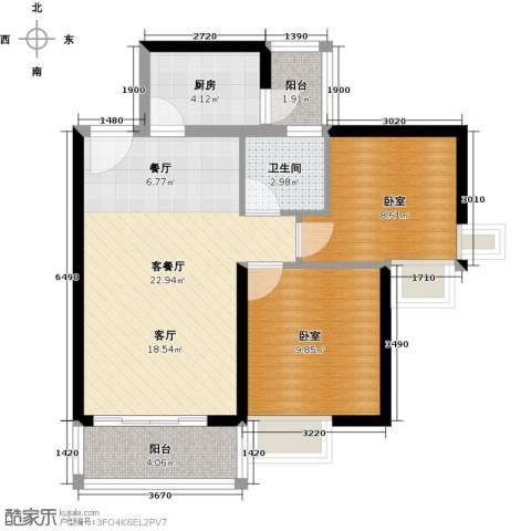 中惠丽阳时代二期1厅1卫1厨79.00㎡户型图