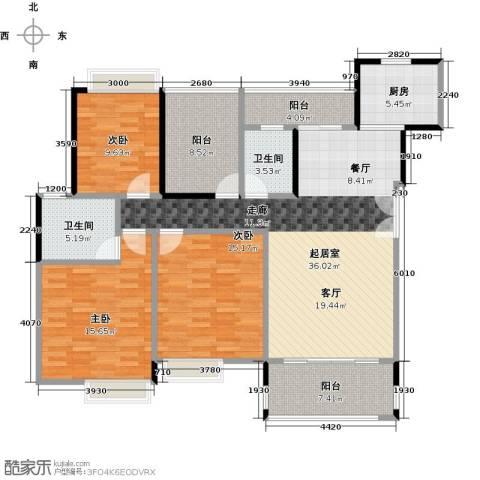 汇景御泉香山3室0厅2卫1厨130.00㎡户型图