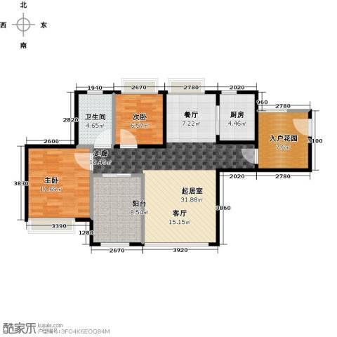 深业欧景城2室0厅1卫1厨105.00㎡户型图