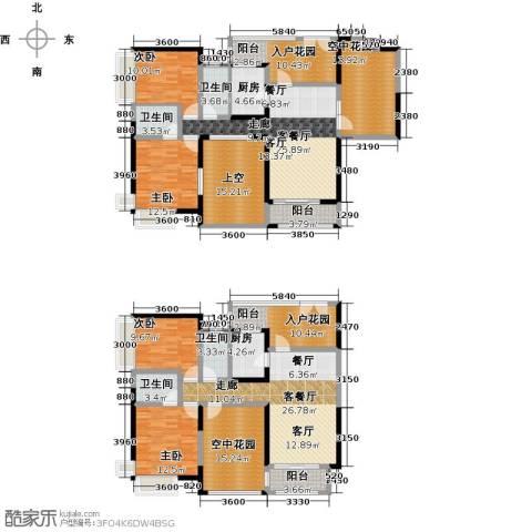 新世纪星城三期4室2厅4卫2厨280.00㎡户型图