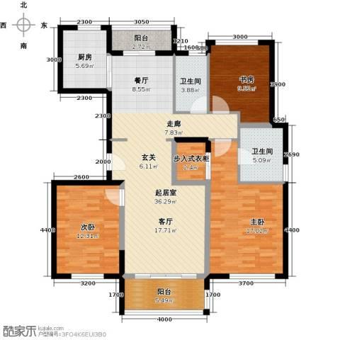 万科金色梦想3室0厅2卫1厨144.00㎡户型图