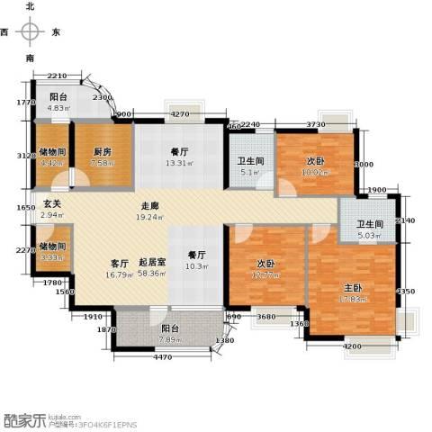 陶然豪园3室0厅2卫1厨191.00㎡户型图