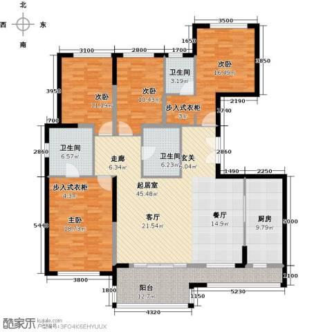 万科金色梦想4室0厅3卫1厨170.00㎡户型图