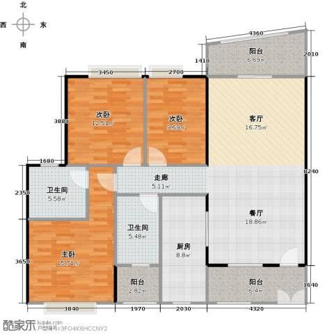 东山紫园商业3室0厅2卫1厨135.00㎡户型图