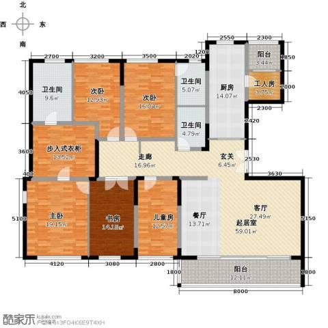 万科金色梦想5室0厅3卫1厨281.00㎡户型图