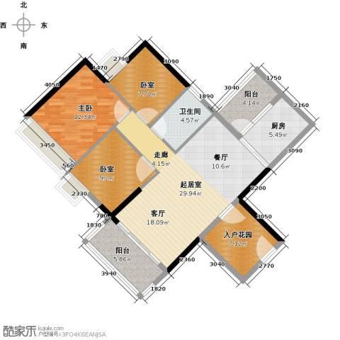 可逸家园1室0厅1卫1厨98.00㎡户型图
