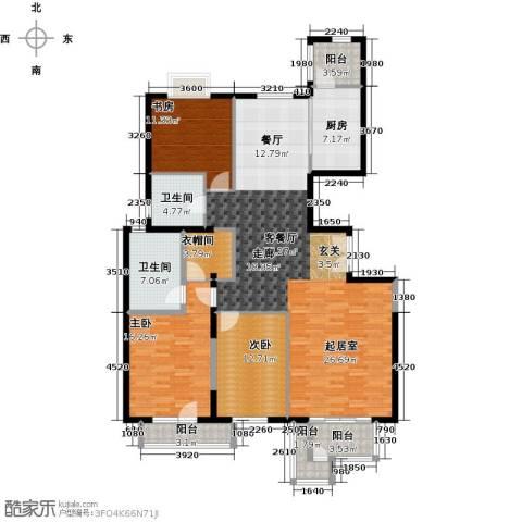 北京华侨城3室1厅2卫1厨169.00㎡户型图