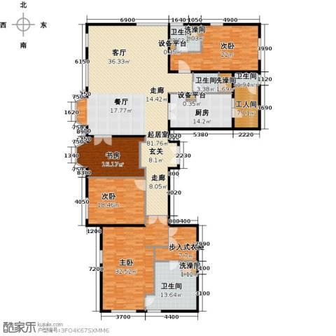 公园18724室0厅4卫1厨290.00㎡户型图