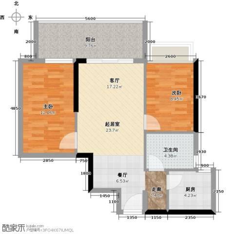 力迅T2室0厅1卫1厨73.00㎡户型图