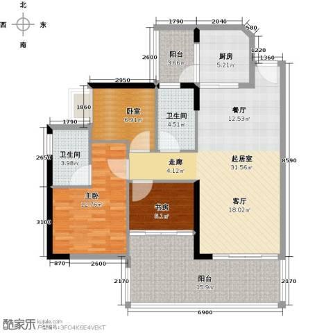 可逸家园2室0厅2卫1厨103.00㎡户型图