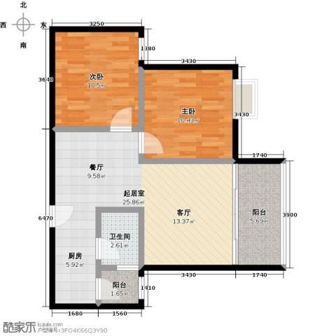 东方苑2室0厅1卫0厨65.00㎡户型图