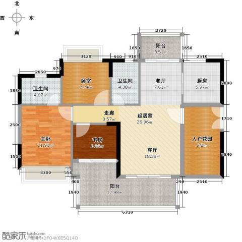 可逸家园2室0厅2卫1厨106.00㎡户型图