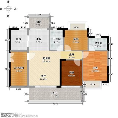 可逸家园2室0厅2卫1厨108.00㎡户型图