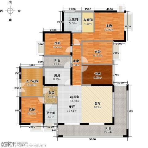 天利中央花园5室0厅2卫1厨218.00㎡户型图