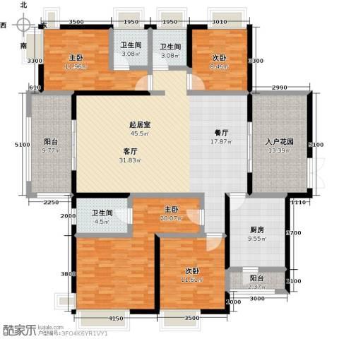 鼎峰尚境4室0厅3卫1厨178.00㎡户型图