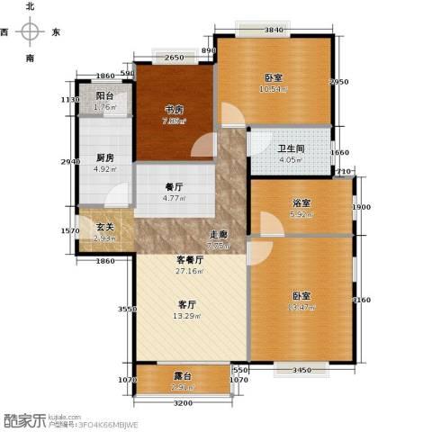 北京明发广场1室1厅1卫1厨85.16㎡户型图