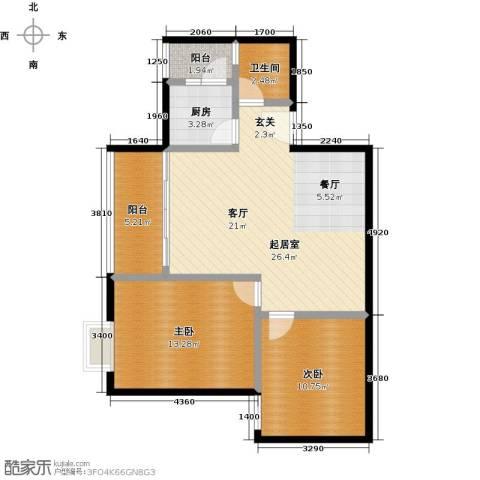 东方苑2室0厅1卫1厨72.00㎡户型图