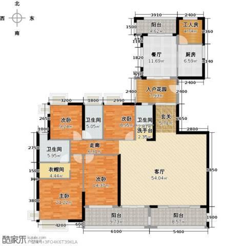天利中央花园4室1厅3卫1厨260.00㎡户型图