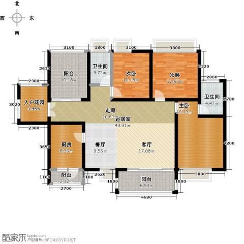 鼎峰尚境3室0厅2卫1厨150.00㎡户型图