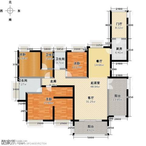 鼎峰尚境3室0厅3卫1厨186.00㎡户型图