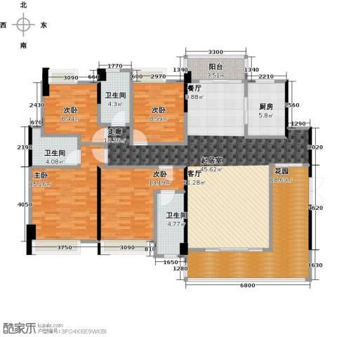 盈拓郦苑4室0厅3卫1厨187.00㎡户型图