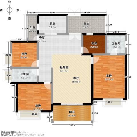 鼎峰尚境4室0厅2卫1厨157.00㎡户型图