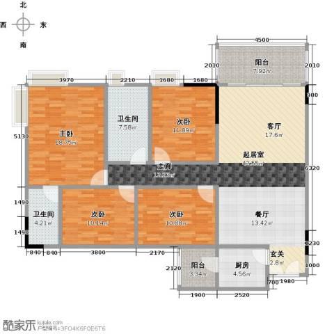 塘盛花园4室0厅2卫1厨169.00㎡户型图